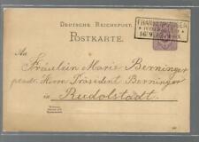 1887  GA DR. 5 Pfg. Frankenhausen ( Kyffhäuser ) n. Rudolstadt