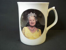 Fine bone china coffee mug Queen Mother 90th Birthday Color photo 1990  8 oz