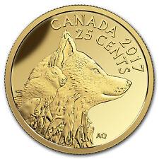 2017 Canada 1/2 Gram Pf Gold $0.25 Predator v Prey: Arctic Fox