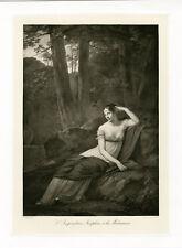 """PRUDHON: L'IMPERATRICE JOSEPHINE"" Phototypie originale BRAUN CLEMENT & Cie 1890"