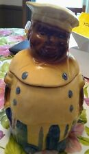 black chef vintage cookie jar perfect condition