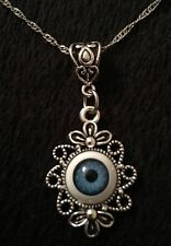 Eye Necklace Eyeball Cameo Evil Charm Lucky Gothic Horror Unusual Steampunk