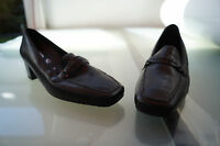 ARA Damen Comfort Schuhe Pumps Mokassins Leder Einlagen Gr.5 H 38 schwarz NEU