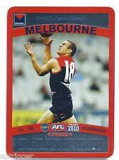 2010 Teamcoach Prize Card (P - 127) Brad GREEN Melbourne