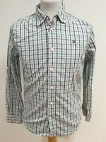 FF410 WOMENS TOMMY HILFIGER PURPLE GREEN GREY CHECK FITTED L/SLEEVE SHIRT UK 14