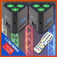 2 x Stagg Led Stage Lighting Tri Truss Warmer Par Lights Rgbw Uplighters