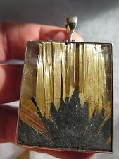 247 cts. SPARKLY STAR RUTILE QUARTZ CRYSTAL STERLING SILVER PENDANT C 41
