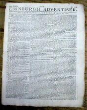 Original 1778-1781 American Revolutionary War newspaper Great Britain Scotland