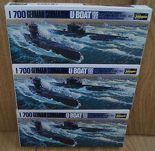 3 x Plastik-Spritzguss-Bausatz des U-Boot-Set  1/700 Waterline von Hasegawa