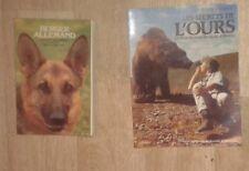 Lot de 2 livres sur les animaux. Berger allemand. Ours.