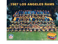 1987 LOS ANGELES RAMS 8X10 TEAM PHOTO FOOTBALL CALIFORNIA NFL HOF USA