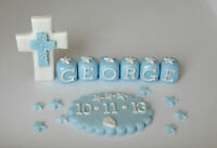 edible,cross,plaque,name block,cake topper christening,decoration.girl boy stars
