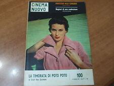 CINEMA NUOVO n.100 del 1957 in copertina Silvana Mangano