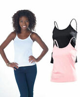 Hanes Womens Ladies Plain Cotton Spaghetti Strap Top Camisole Vest Singlet