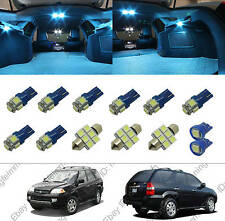 13x Aqua Ice  Blue interior package kit LED lights for Acura MDX 2001-2006