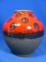 Beautiful glazed 70´s design Carstens Keramik pottery vase 652 - 13