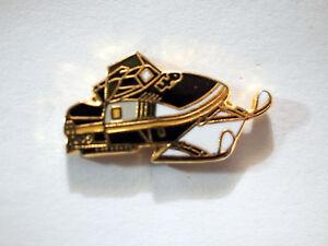 Snowmobile Pin, Vintage Snowmobile Lapel Pin, Black   , (**)