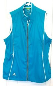 Adidas,Thin Summer, Golf Clima Proof  Women's Turquoise, Full Zip Vest, Large