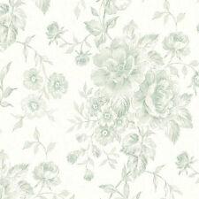 Verde Pallido Floreale Resistente Vinile Carta da parati cg28817 Galerie Fleur ET toile