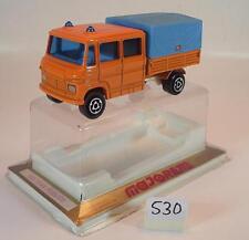 MAJORETTE 1/70 n. 233 Mercedes Benz Camion Pianale/Telo TRAX publics OVP #530
