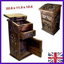 Antique Apothecary Storage Box Chest Small Wooden Cabinet Jewellery Med Drawer