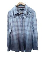 North River Shirt Mens XXL Long Sleeve Button Down Pearl Snap Western Country