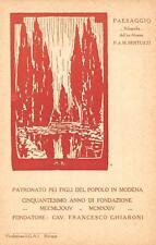 3411) MODENA PATRONATO DEI FIGLI DEL POPOLO, 1874/1924 ILLUSTRATORE BERTUZZI.