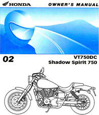 2002 HONDA SHADOW SPIRIT VT750DC MOTORCYCLE OWNERS MANUAL -VT750 DC-VT750-HONDA