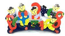 Garderobe Kinder Garderobe Kleiderhaken Garderobenhaken Bär Wandhaken Holz bunt
