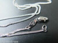 16.5INCH Solid Platinum 950 Necklace Flat Curb Link Chain Necklace Pt950