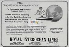 ROYAL INTEROCEAN LINES DUTCH SHIPS SOUTHERN HEMISPHERE ROUTE 1957 AD