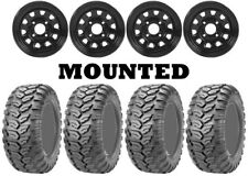Kit 4 Maxxis Ceros MU07 Tires 25x8-12/25x10-12 on ITP Delta Steel Black ACT
