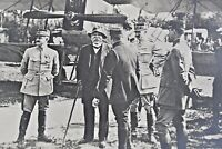 WWI Clemenceau visiting French Aviation Camp near Front 3.25 x 4.5 VTG Photograp