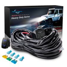 HD 300W 40A Relay Wiring Harness Kit BLUE LED Light Bar Rocker Switch 14AWG 1Leg