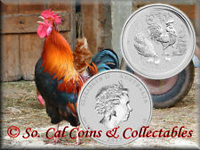 2017 Australia Lunar Silver Rooster 1 Ounce Pure Silver