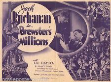 BREWSTERS MILLIONS 1935 Jack Buchanan VINTAGE Movie Herald