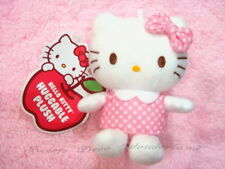 "100% AUTH SANRIO HELLO KITTY 5"" PINK POLKA DOTS DRESS MASCOT PLUSH DOLL TOY BNWT"