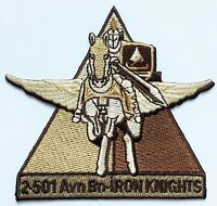 """U.S. ARMY 2nd Bn 501st AVIATION REGIMENT - """"IRON KNIGHTS"""" DESERT SUBDUED PATCH"""