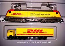 Marklin Märklin Z 88583 Elektrolok DHL 182 009-1 (E Lok BR 182 +Sattelzug) NEU