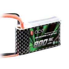 ACE 7.4V 2S 800mAh 15C LiPO Battery JST plug Burst 30C R/C model Lipolymer power
