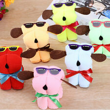 Plain Dog Cake Shape + Sun Glasses Towel Cotton Washcloth Wedding Gifts