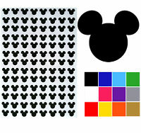 Mouse Head Shaped Stickers x 140. Easy Peel Mouse Head Decals arts crafts