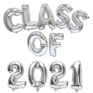 CLASS OF 2021-16 inch Foil Letter Balloon Pack Party graduation college school
