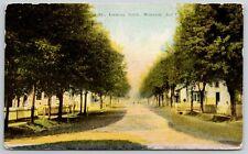 Wanatah Indiana~Sixth Street Homes on Dirt Rd~Lots of Shade Trees 1909 Postcard