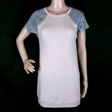 Victoria's Secret Women Mini Dress with Sequin Shoulder Color Brown Size XS
