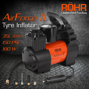12v Car Tyre Inflator - 100PSI Portable Air Compressor ROHR Airforce 11