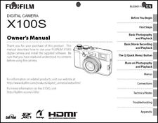FujiFilm FinePix X100S Digital Camera Owner's  Manual User Guide Instruction