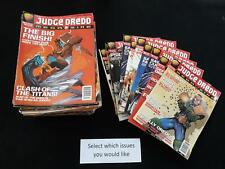 Judge Dredd Megazine Volume 3 good reading copies - Choose issues at £1.49 each