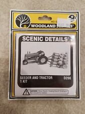 HO SCALE WOODLAND SCENICS, SCENIC DETAILS, SEEDER AND TRACTOR D208