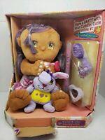 Cuddlin Cuties Soft Baby Doll & Mini Rabbit Violet & Lilac Purple Hair New.